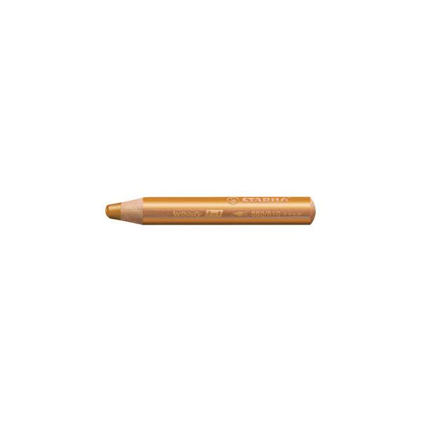 Stabilo 880/810 Woody 3 in 1 Aquarellfarbstift gold