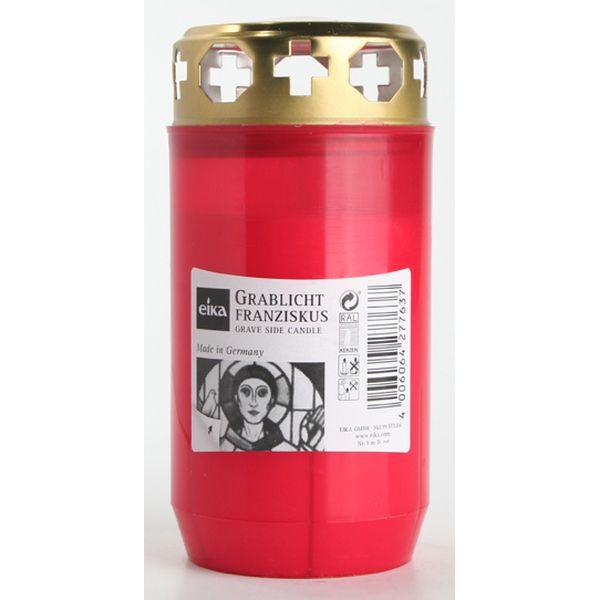 Eika Grablicht Franziskus Nr. 3 mit Deckel HxØ 122x60mm rot