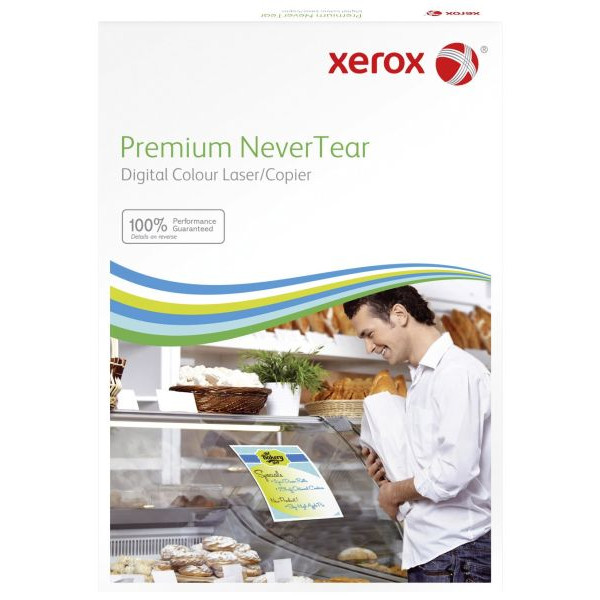 XEROX Kopierfolie 003R96035, A4, für S/W-Laserdrucker, Farb-Laserdrucker, S/W-Kopierer, Farb-Kopierer, 0,195mm, weiß, 100 Blatt