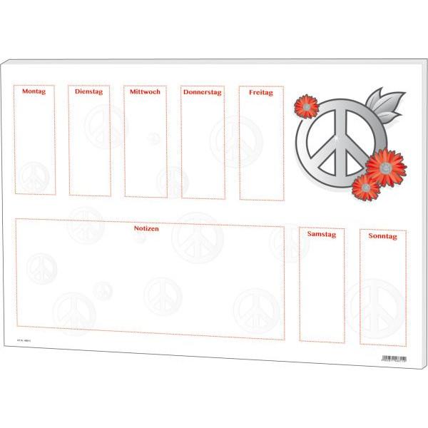 RNK Schreibunterlage Love & Peace Schreibunterlage 60x42cm