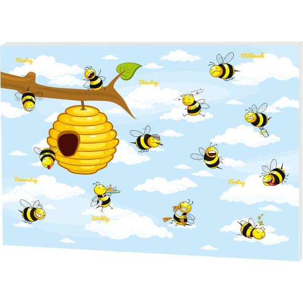 RNK Schreibunterlage 60x42cm/30BL Schreibunterlage Crazy Bees