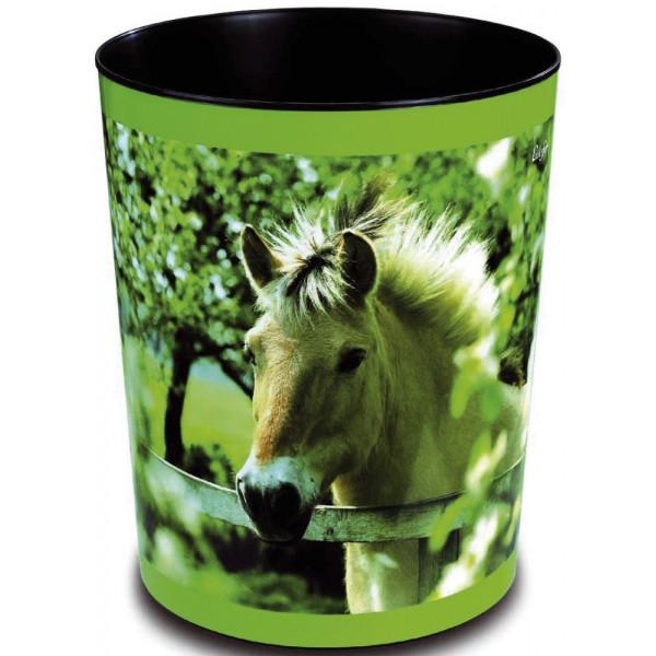 LÄUFER 26657 H.30cm Kunstst. Papierkorb 13L Pferd am Zaun