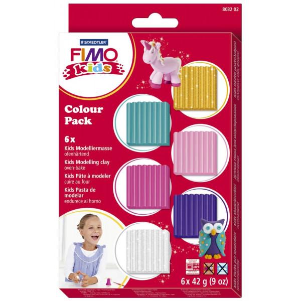 Staedtler 8032-02 Girlie 6x42g Modellierset Fimo Kids Colour