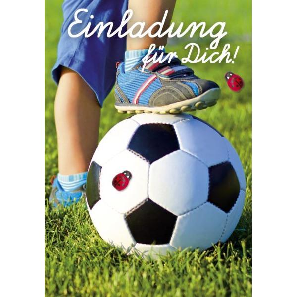 50-006 Fußball Einladung Kinder 8ST