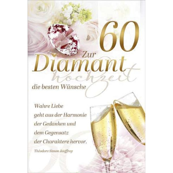 73-201900 Bild Diamantene Hochzeitskarte
