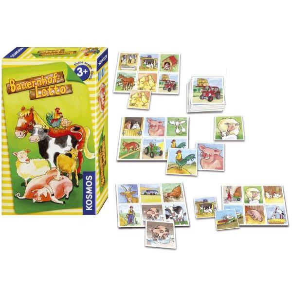 KOSMOS 710835 Mitbringspiel Bauernhof-Lotto