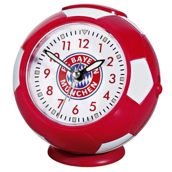 Fc Bayern Wecker Fußball mit Logo rot/weiß
