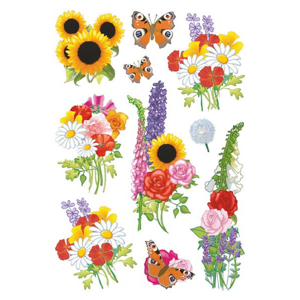 HERMA 3369 Decorsticker Schmucketikett moderne Blumen 30 Sticker