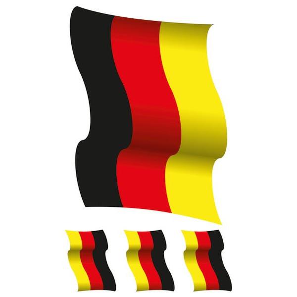 HERMA 3187 XXL Fensterbild Deutschland-Fahne