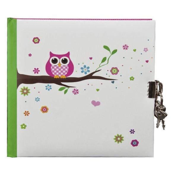 GOLDBUCH 44043 16,5x16,5cm Tagebuch Eule weiß