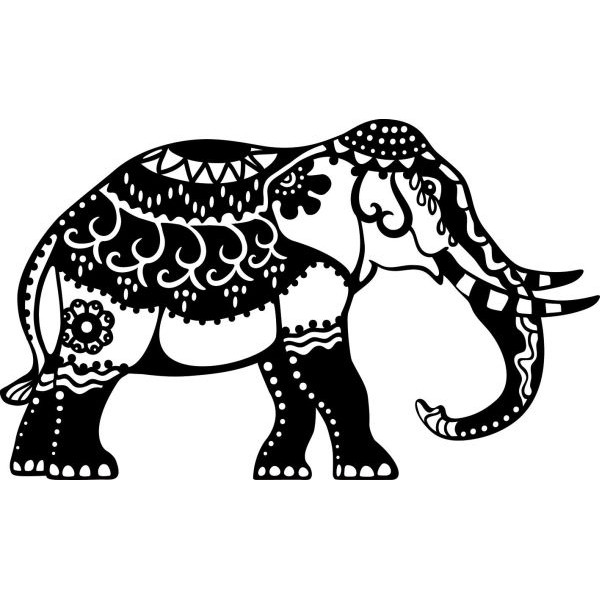 MARABU 0288 00 001 A4 Schablone Indian Elephant