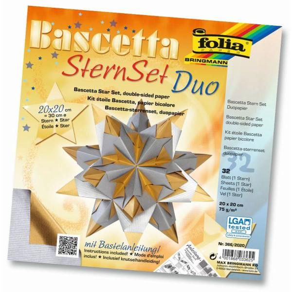 FOLIA 366/2020 20x20cm 32Bl Bascetta-Stern silber/gold