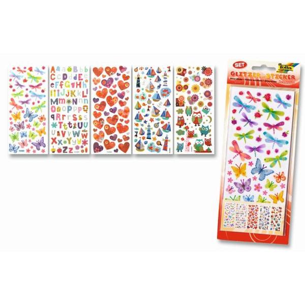 FOLIA 1410 5Bl Sticker Glitter Dekozauber