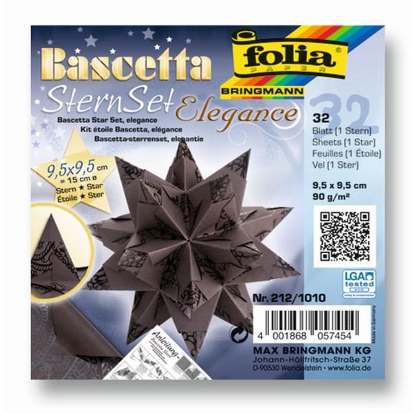 FOLIA 212/1010 9,5x9,5cm Bascetta Stern Ind.Dream braun