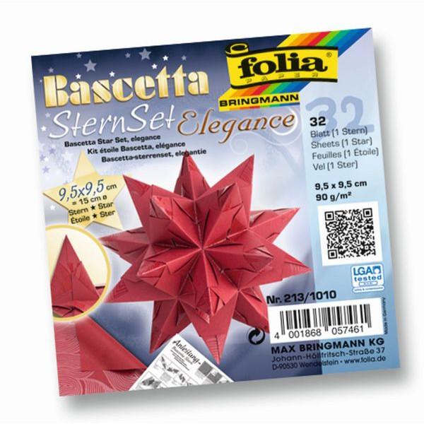 FOLIA 213/1010 9,5x9,5cm Bascetta Stern Deep Jungle rot