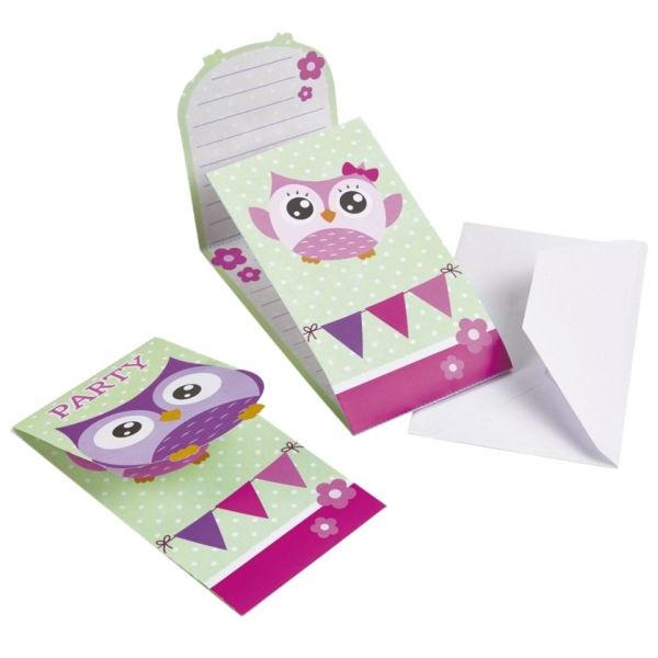 HAPPY OWL 998351 Einladung Kinder 8ST