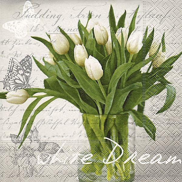 PAPER+DESIGN 200020 Motivserviette Frühjahr 33x33cm Tulpen w