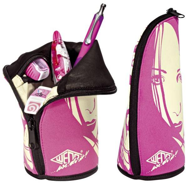 WEDO 242 31209 Grafik Stifteköcher Neopren 2 go pink