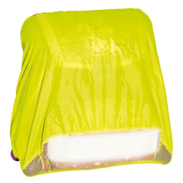 WEDO 2411065 Regenschutzhülle für Schulranzen 50x50 neongelb