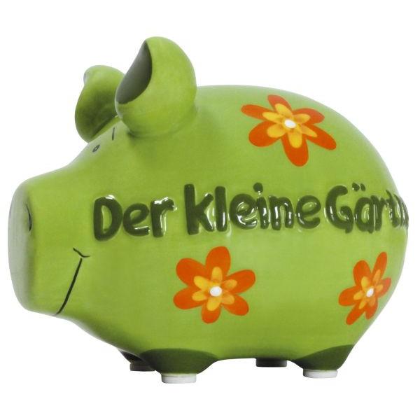 KCG 100681 Der kleine Gärtner Spardose Schwein klein grün