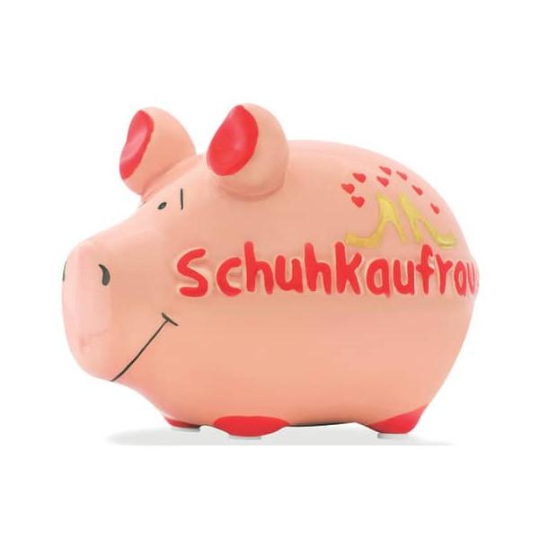 KCG 100854 Schuhkaufrausch Spardose Schwein klein lila