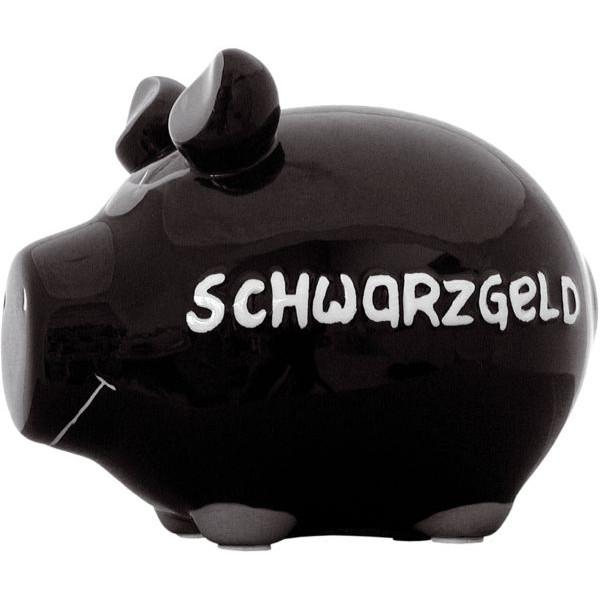 KCG 100060 Schwarzgeld Spardose Schwein klein
