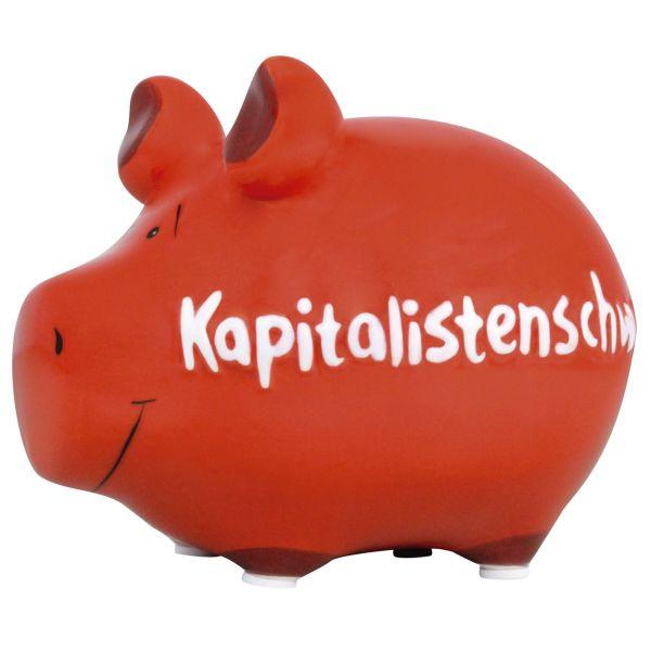 KCG 100566 Kapitalistenschwein Spardose Schwein klein