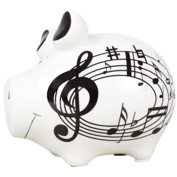 KCG 101231 Musikschwein Spardose Schwein klein