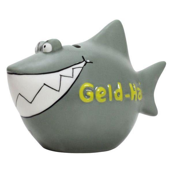 KCG 101269 Geld-Hai Spardose Hai klein graugrün