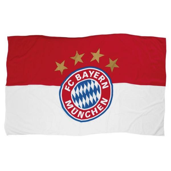 Fc Bayern Fahne 90x60cm ohne Stock mit Logo rot/weiß