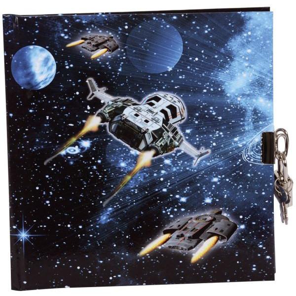 GOLDBUCH 44570 16,5x16,5cm Tagebuch Raumschiff
