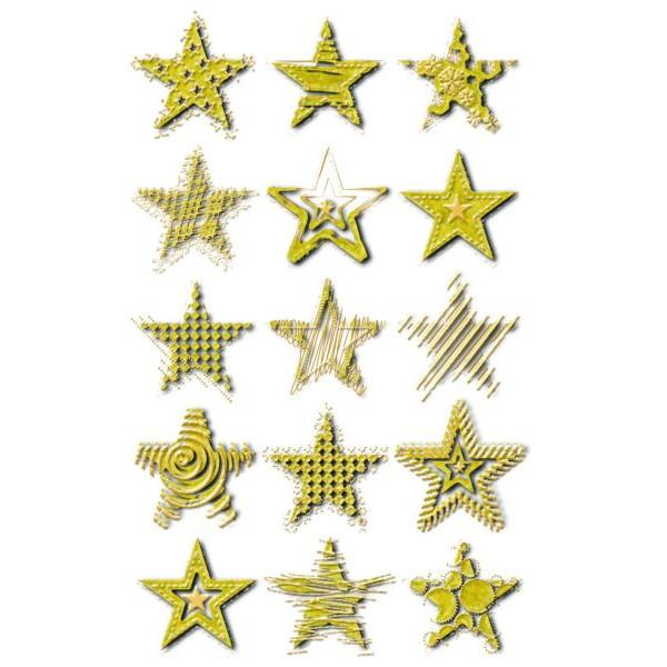 Zweckform 52873 Folie Weihn.Sticker Sterne gold