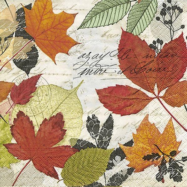 PAPER+DESIGN 200187 33 cm 3lag Motivserviette Herbst Blätter