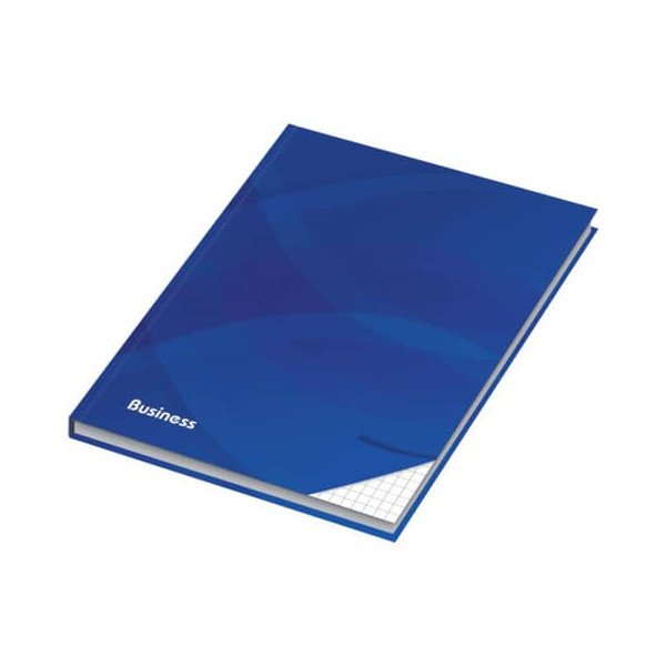 RNK 46511 96Bl kariert Notizbuch A6 Business blau