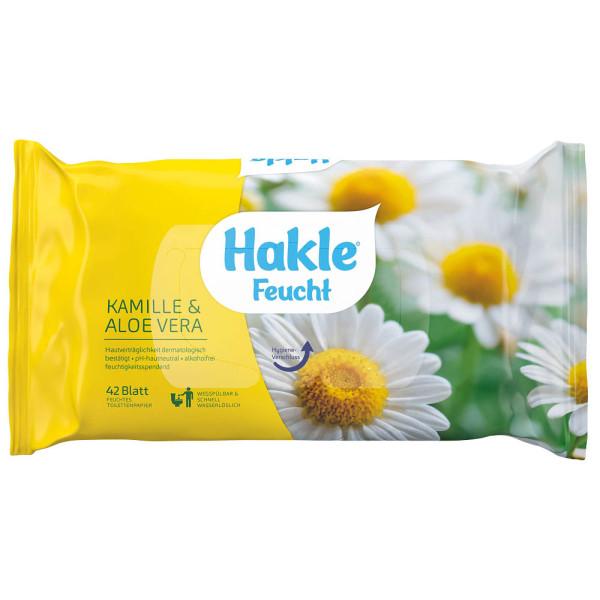 HAKLE feuchtes Toilettenpapier Kamille&AloeVera 80030 1-lagig 42 Blatt