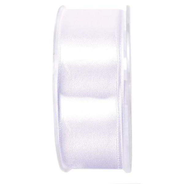 Goldina Geschenkband Doppelsatinband 40mm x 25m weiß