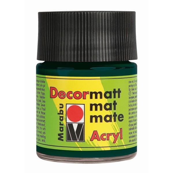 MARABU Acrylfarbe Decormatt 14010 005 075, tannengrĂĽn, 50ml