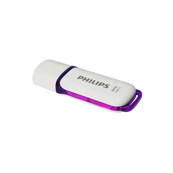 Philips USB-Stick Snow USB 3.0 weiss/violett 64 GB