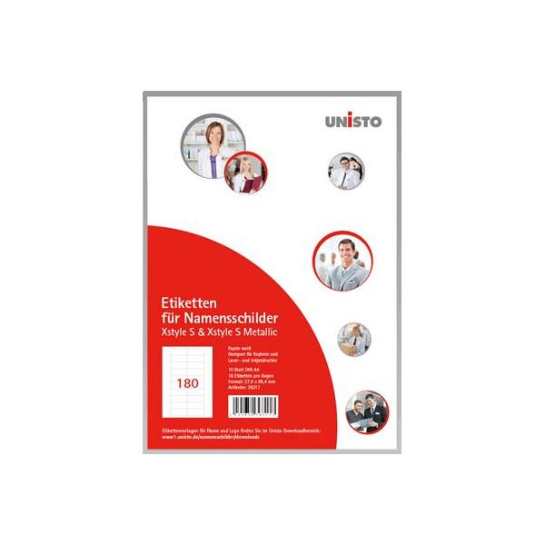 UNISTO Etikettenbogen Xstyle 36317 VE180