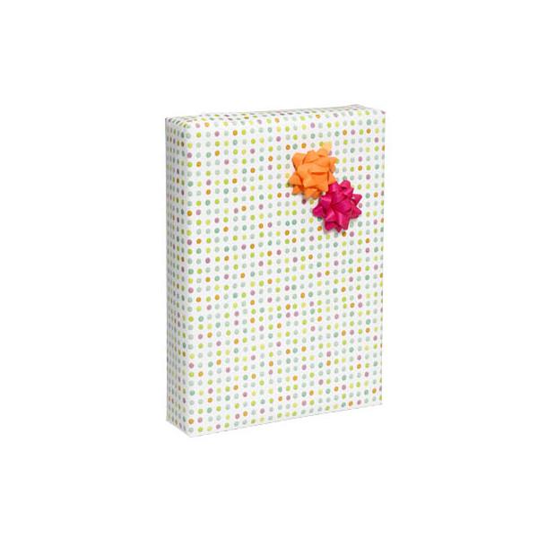 Geschenkpapier Punkto Punkte mehrfarbig 50cm x 20m