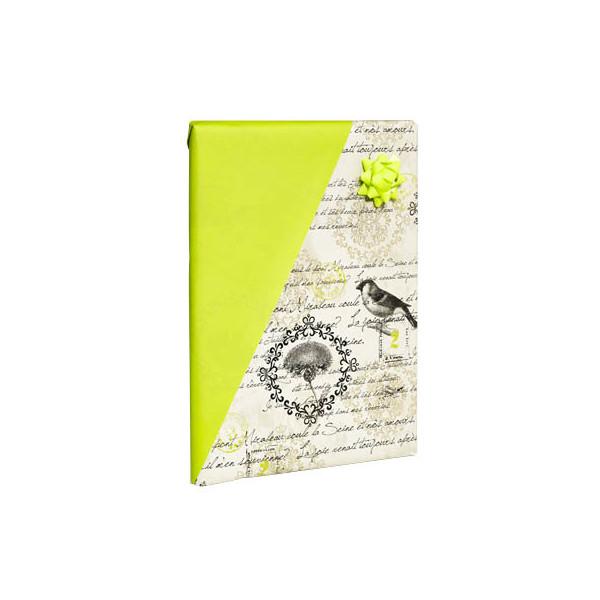Geschenkpapier Mirabeau Nostalgie beidseitig bedruckt beige/hellgrün 50cm x 20m