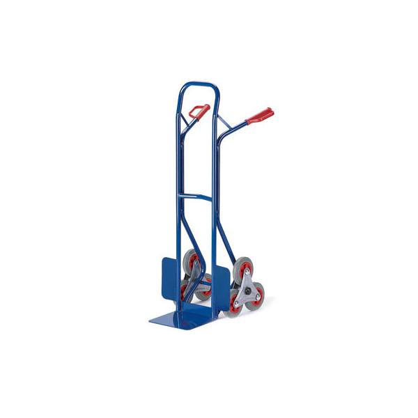 Rollcart Sackkarre 20-9833 tragfähig bis 150kg blau 30x22,5cm Stahl mit 3-Rad-Stern für Treppen