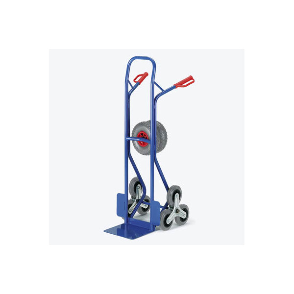 Rollcart Sackkarre 20-9855 tragfähig bis 150kg blau 30x22,5cm Stahl mit 3-Rad-Stern für Treppen