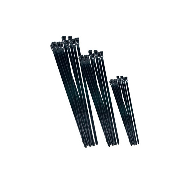 75 Clips und Binder im Kabelbinder-Set schwarz B20451