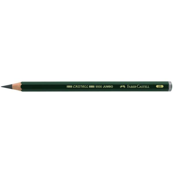 Faber-Castell 119302 Bleistift 9000 Jumbo 2B