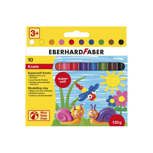 Eberhard Faber 572110 Kinderknete supersoft 10ST sort.