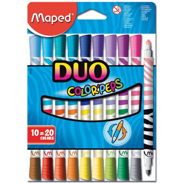 MAPED MAPED M847010 Color Peps Faserschreiberetui 10ST Duo so
