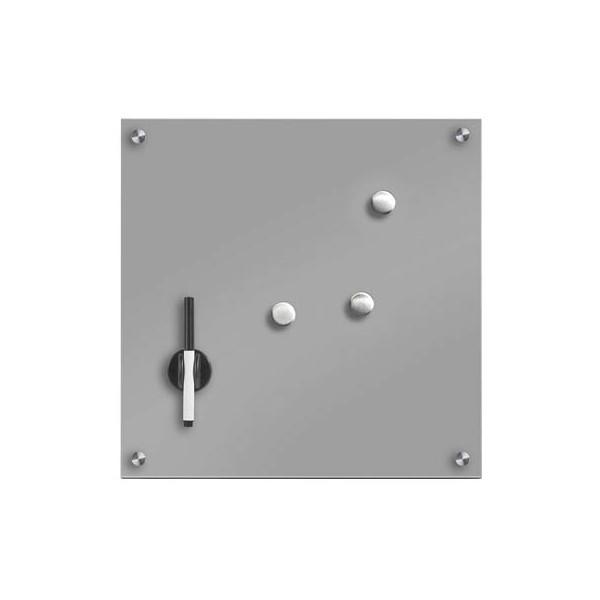 Zeller Glas-Magnettafel 40,0 cm x 40,0 cm grau 11665