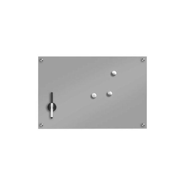 Zeller Glas-Magnettafel 60,0 cm x 40,0 cm grau 11666