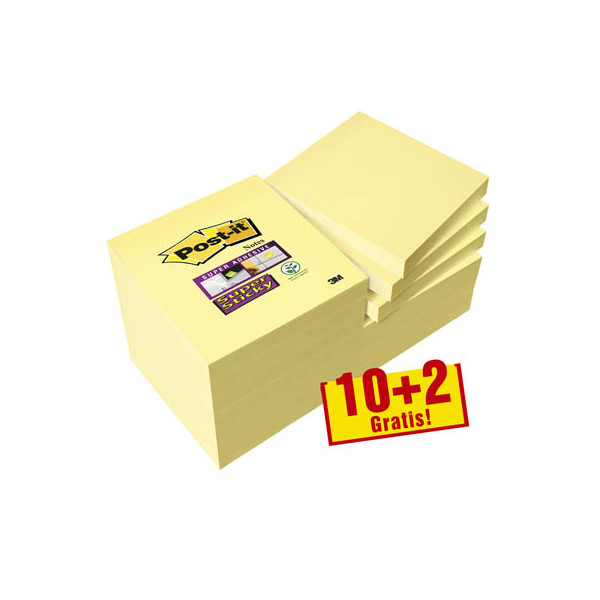 Post-it 10+2 GRATIS: Haftnotizen 654 gelb 65412SYP